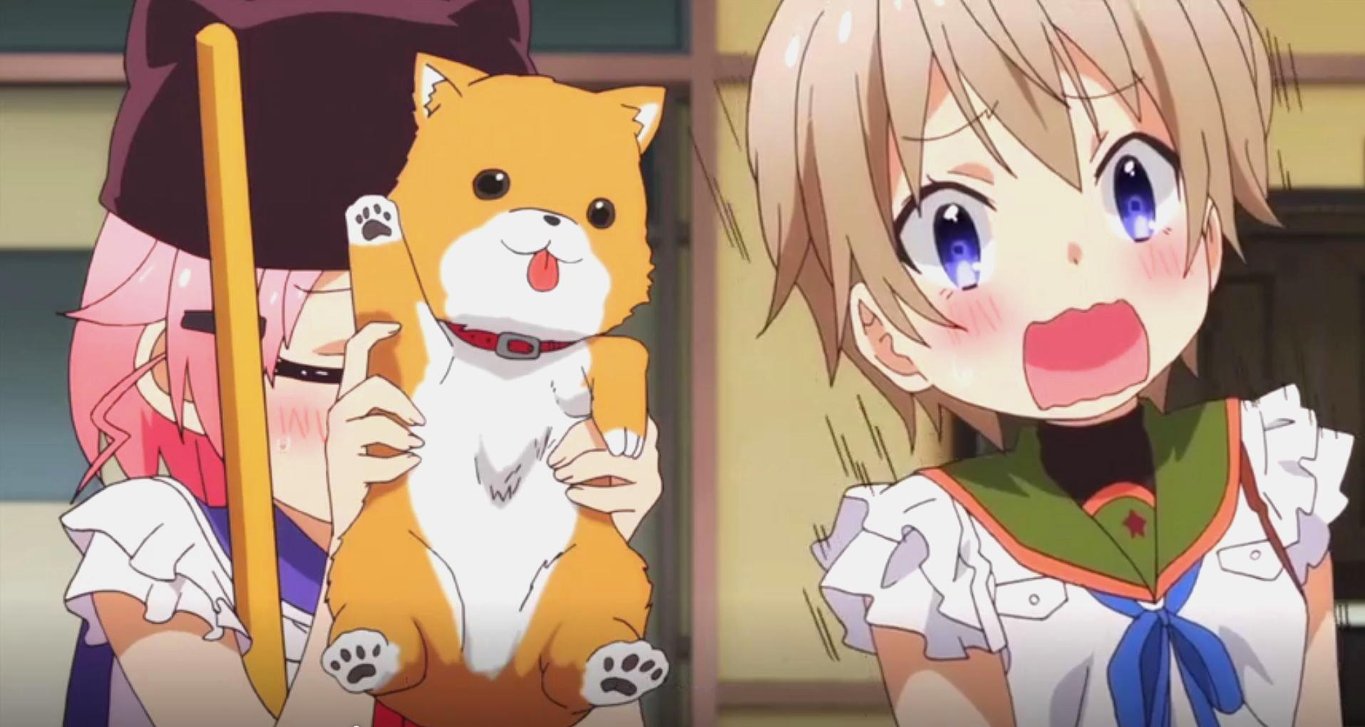 Extrait de l'épisode 9 de Gakkou Gurashi - Yuki, Tarômaru et Miki.
